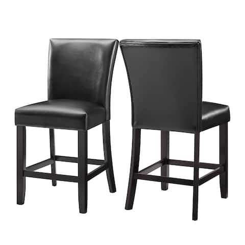 Concordia Faux Leather Counter Height Chair by Greyson Living (Set of 2) - N/A