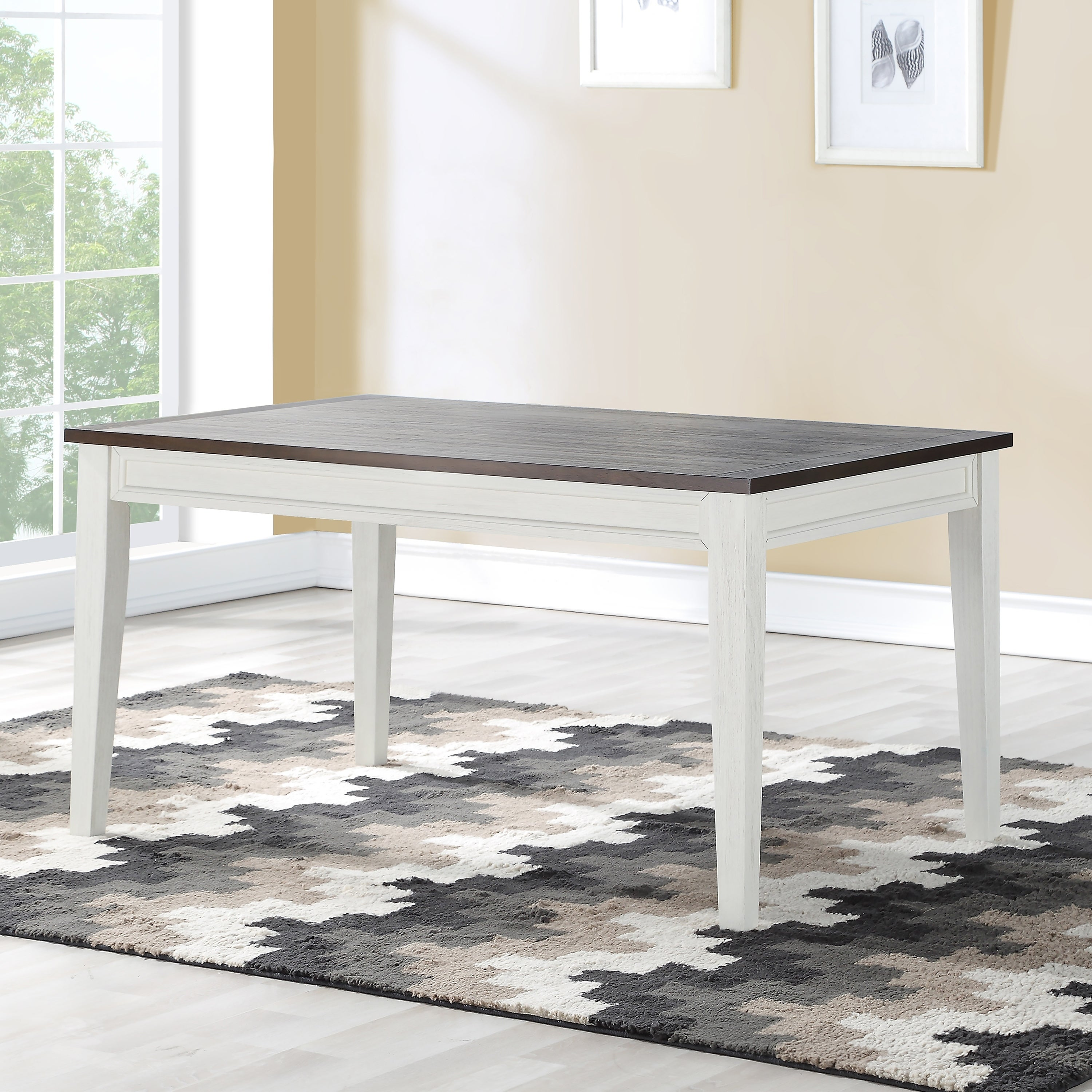Crestwood Two Tone Farmhouse Wooden Dining Table By Greyson Living Ivory Driftwood On Sale Overstock 28422939