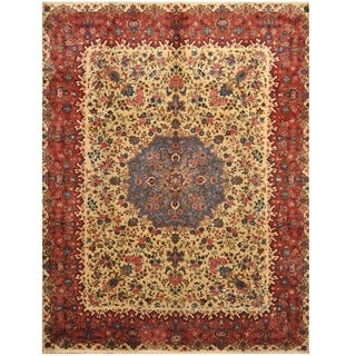 Handmade One-of-a-Kind Signature Kerman Wool Rug (Iran) - 9'8 x 12'8