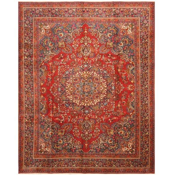 Handmade One-of-a-Kind Mashad Wool Rug (Iran) - 9'7 x 12'6