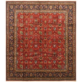 Handmade One-of-a-Kind Tabriz Wool Rug (Iran) - 9'9 x 11'4