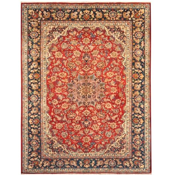 Handmade One-of-a-Kind Isfahan Wool Rug (Iran) - 9'5 x 12'2