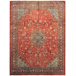 Handmade One-of-a-Kind Mashad Wool Rug (Iran) - 9'6 x 13'