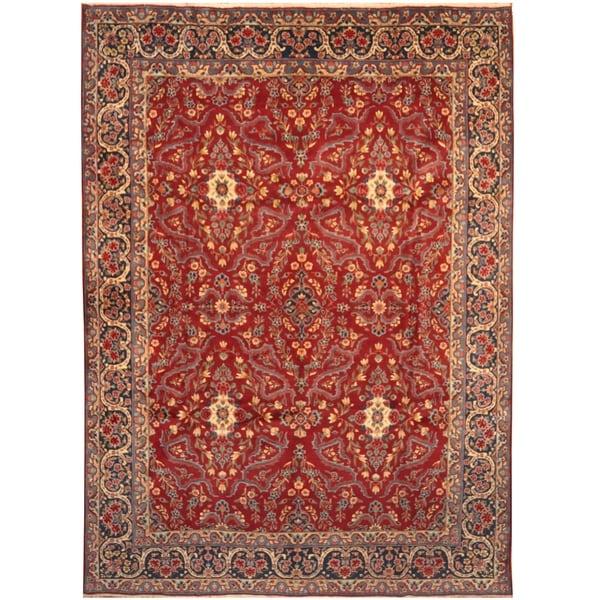Handmade One-of-a-Kind Isfahan Wool Rug (Iran) - 9'9 x 13'3