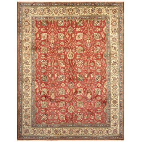 Handmade One-of-a-Kind Tabriz Wool Rug (Iran) - 10' x 13'
