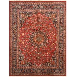 Handmade One-of-a-Kind Mashad Wool Rug (Iran) - 9'8 x 13'