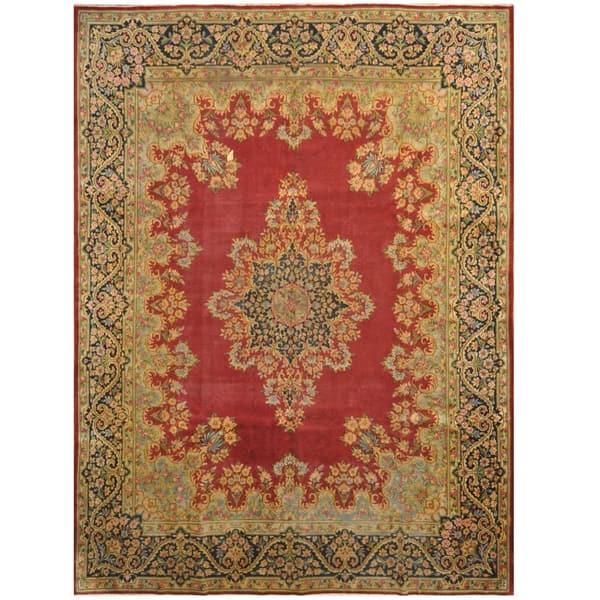 Handmade Kerman Wool Rug Iran