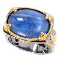 Michael Valitutti Palladium Silver Kyanite & Blue Sapphire Ring