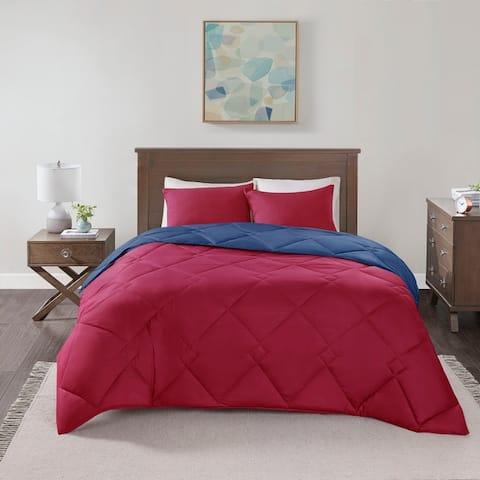 Comfort Spaces Lacey Reversible Down Alternative Comforter Set 10-Color Option