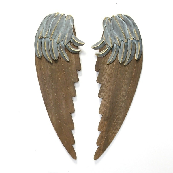 Stratton Home Decor Rustic Angel Wings
