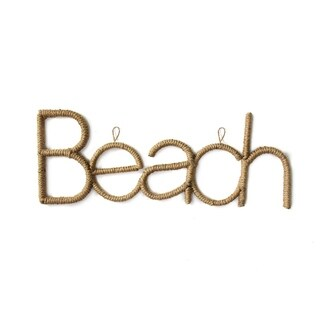 Stratton Home Decor Rope Beach Sign - N/A
