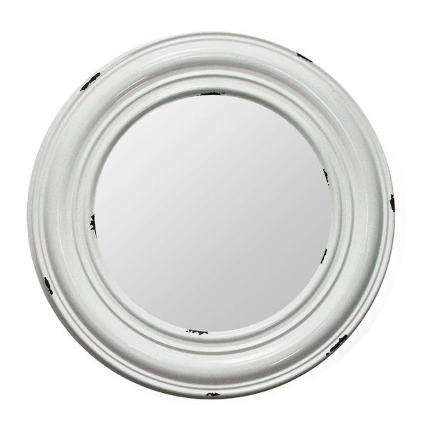 Stratton Home Decor Priscilla Metal Mirror - White