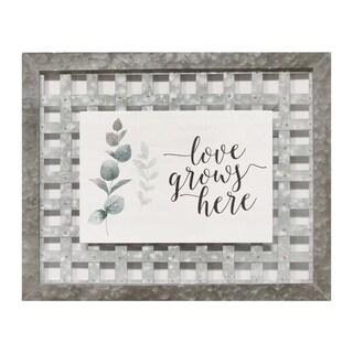 """Stratton Home Decor """"Love Grows Here"""" Wall Art - N/A"""