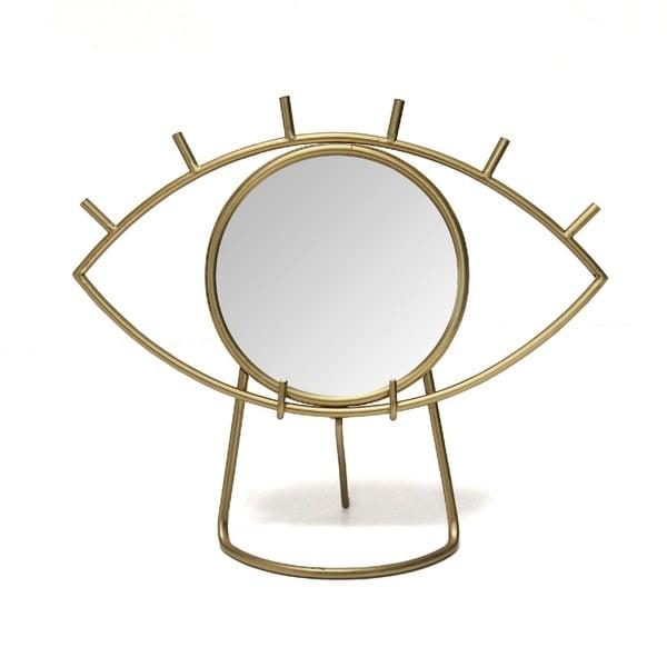Stratton Home Decor Gold Eye Tabletop Mirror