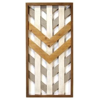 Stratton Home Decor Framed Geometric Wood Wall Panel