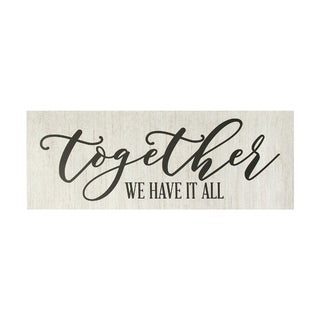 Stratton Home Decor Together we have it all Oversized Wall Art