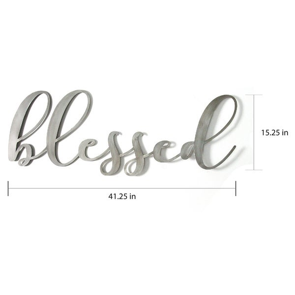 Porch & Den Oversized 'Blessed' Metal Sign