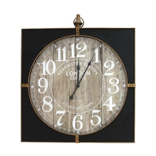 Stratton Home Decor Jordan Wall Clock