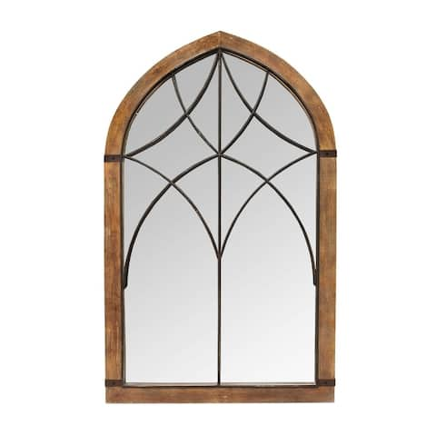Stratton Home Decor Augusta Cathedral Mirror