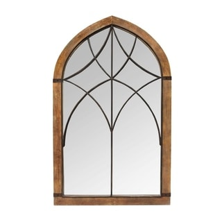 Stratton Home Decor Augusta Cathedral Mirror - N/A