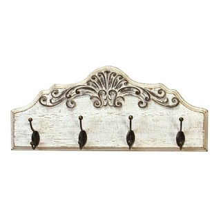 Stratton Home Decor Shabby Wood Coat Rack - N/A