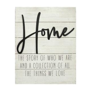 """Stratton Home Decor """"Home"""" Wall Decor - N/A"""