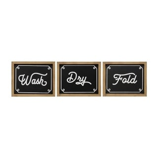 The Gray Barn Wash Dry Fold Wall Decor (Set of 3) - N/A