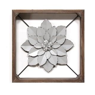 Stratton Home Decor Grey Framed Metal Flower