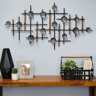 Carbon Loft Metal and Wood Wall Sculpture - N/A