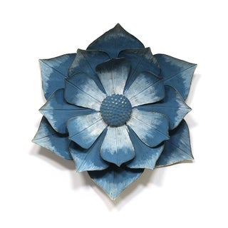 Stratton Home Decor Blue Ipomoea Metal Flower - N/A
