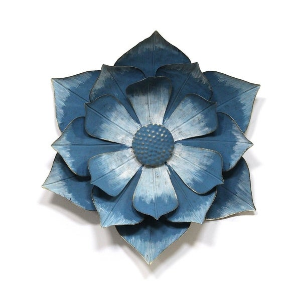 Stratton Home Decor Blue Ipomoea Metal Flower - N/A