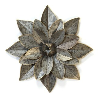 Stratton Home Decor Layered Galvanized  Metal Flower