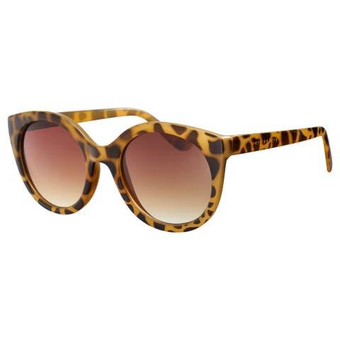 Vernier Womens Yellow Tortoise SOPHIA Round Cat eye Sunglasses - Yellow Tortoise - Yellow Tortoise