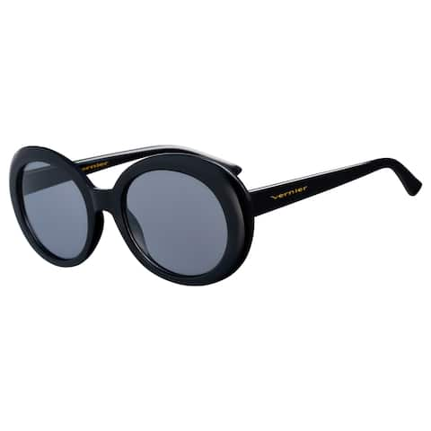 Vernier Women's Black JACKIE Round Sunglasses