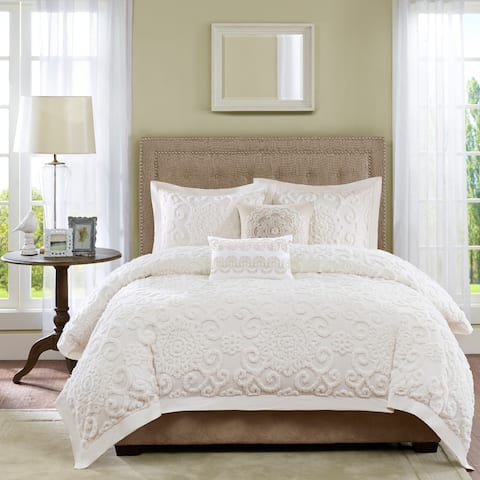 Harbor House Suzanna Cotton King Size Duvet 3-Pieces Set in Taupe (As Is Item)