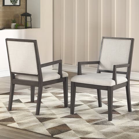 Milano Wooden Arm Chair by Greyson Living (Set of 2) - N/A