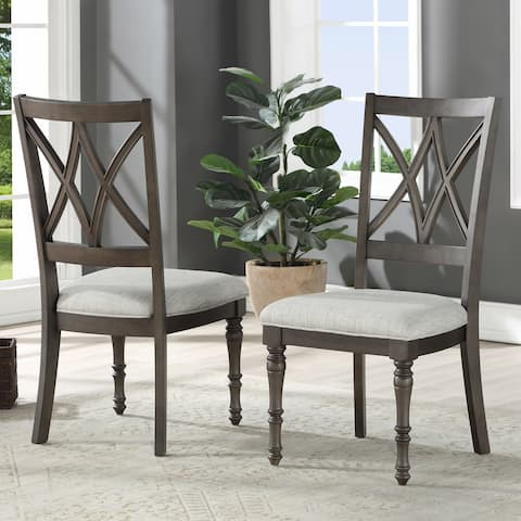 Lockwood Double X Back Wood Dining Chair by Greyson Living (Set of 2) - N/A