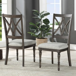 Lockwood Double X-Back Wood Dining Chair by Greyson Living (Set of 2)