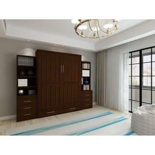 Shop Queen Devonshire Murphy Bed With One Pier Cabinet In