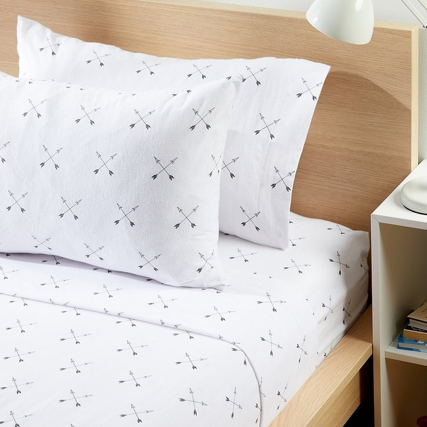 Porch Den Tonka Arrow Pattern Flannel Sheet Set Size Twin Overstock 28424687