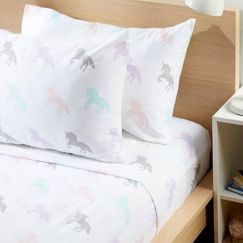 Habitat Kids Collection Flannel Unicorn Sheet Set
