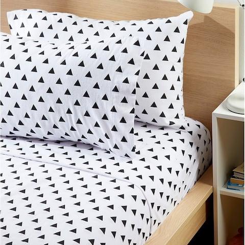 Plush 160 GSM Deep Pocket Brushed Cotton Flannel Bed Sheet Sets