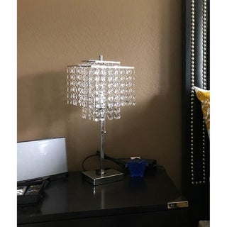 Link to 20.5 In. Glam Silver 2 Tier Square Table Lamp Similar Items in Table Lamps