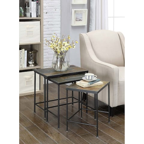 3 Piece Nesting Table with Slate Top