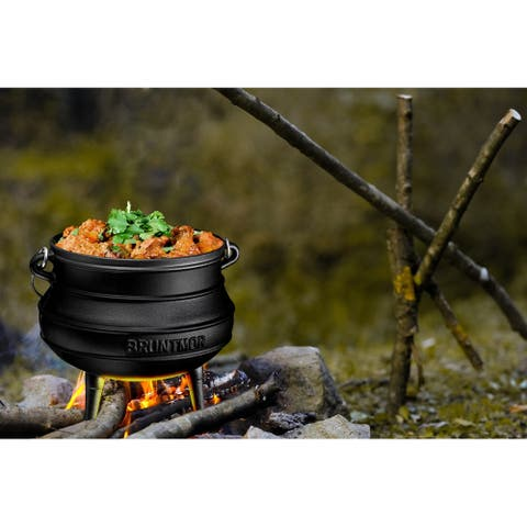 African Potjie Cauldron Pot - Cast Iron Pre-Seasoned Potjie African Pot