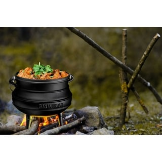Link to African Potjie Cauldron Pot - Cast Iron Pre-Seasoned Potjie African Pot Similar Items in Serveware