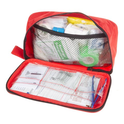 First Aid Kit - 180 Piece Set by Bluestone - Red