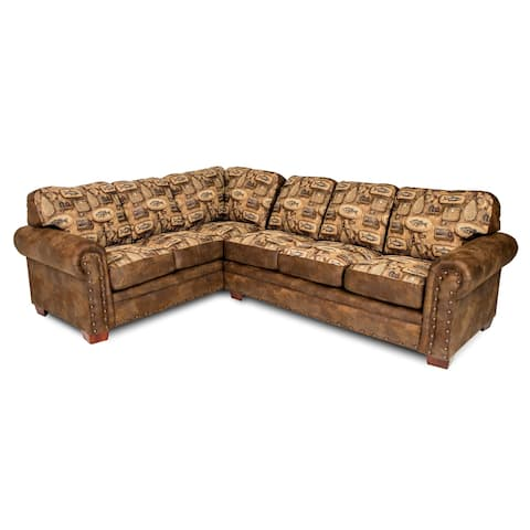 American Furniture Classics Model 8506-80K River Bend Two Piece Sectional Sofa