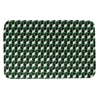 Classic Geometric Stripes Bath Mat (17 X 24 Green)