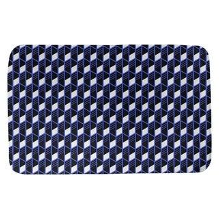 Classic Geometric Stripes Bath Mat (17 X 24 Blue)
